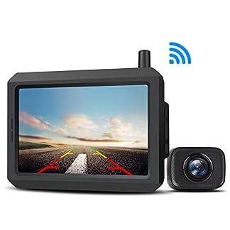 AUTO-VOX-W-7-Rckfahrkamera-digital-kabellos-Rckfahrkamera-stabiles-Signal-IP68-wasserdicht-Rckfahrkamera-mit-klarem-Bild-127-cm-5-Zoll-LCD-Monitor