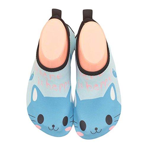 enfants Chaussures de plage de sport Chaussures d'eau douce Chaussures Indoor Sock Chaussures Bleu clair