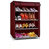 Parasnath Shoe 4-5 layer Cloth Cabinet , Shoe Rack Organiser, Colour - Random Colour ( 20 Year Warranty *MADE IN INDIA)