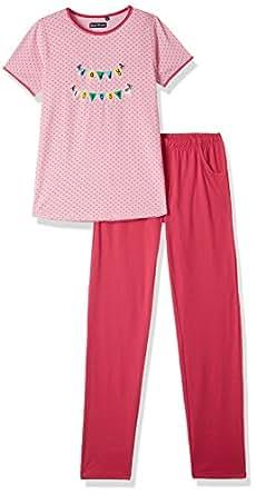 Sweet Dreams Girls' Sleepsuit (620316_pink_12 YR)