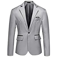 YOUTHUP Mens Blazers Single Breasted stijlvolle pak jas Casual chique jas