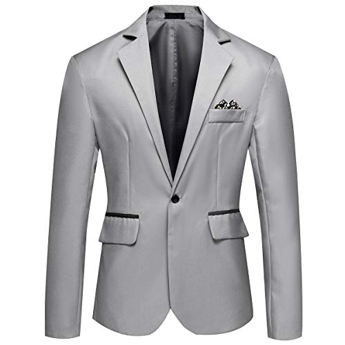 YOUTHUP Herren Sakko Fitness Sportlich Anzugjacke Business Freizeit Slim Fit Blazer Coat