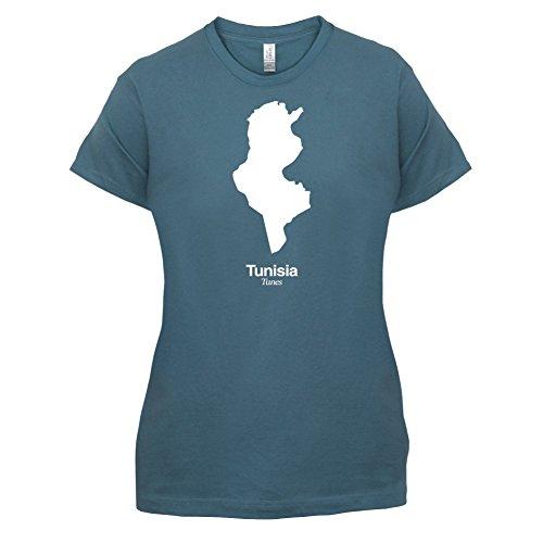 Tunisia / Tunesien Silhouette - Damen T-Shirt - 14 Farben Indigoblau