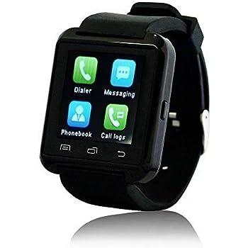 Wavefull Mobile SmartWatch U8 Montre Sport Bluetooth 3.0 Bracelet en Silicone pour smartphone IOS Apple iphone 4/4S/5/5C/5S/6 Android Samsung S2/S3/S4/Note 2/Note 3 HTC Nokia Noir
