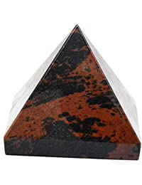 Healing Crystals India 20-30mm Rose Quartz Pyramid Feng Shui Spiritual Egypt Civilization Pyramid with Free eBook about Crystals Healing by Healing Crystals India
