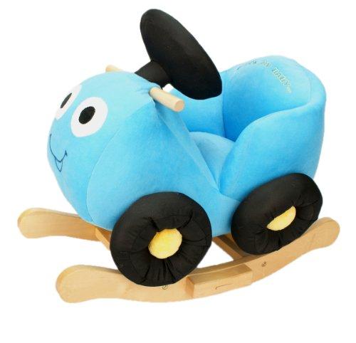 Knorrtoys.com 40930 - Cochecito balancín en color azul con estructura de madera Importado de Alemania