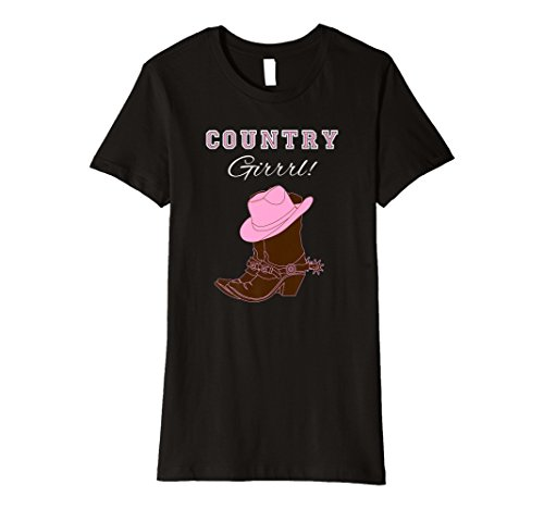 Country Motto Shirt COUNTRY girrrl T Shirt Cowgirl Stiefel