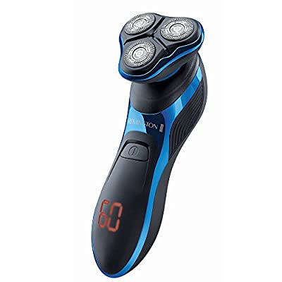 Remington XR1470 Aqua Pro Hyperflex Rotary Shaver with Turbo Boost Function Comfort Shaving Heads, Hyperflex Technology – Black/Blue