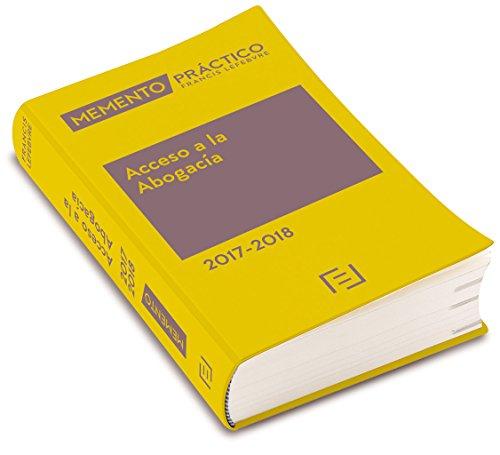 Memento Acceso a la Abogacía 2017-2018 por Lefebvre-El Derecho