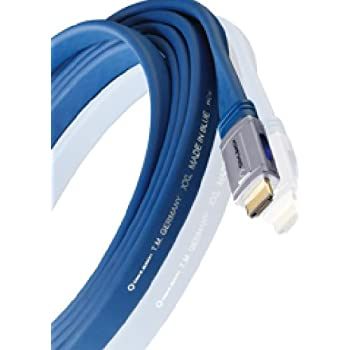Oehlbach XXL Made in Blue High Speed HDMI Kabel 1,2m blau