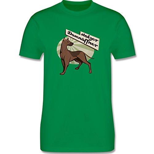 Hunde - Stolzer Dosenöffner Hund - Herren Premium T-Shirt Grün