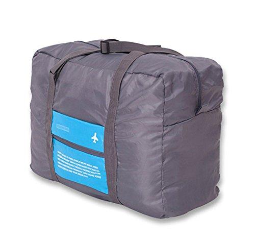 Faltbare Reisetasche,32L Kleidertaschen Faltbare Reise-Gepäck Duffel Taschen Leichtgewicht Sporttaschen für Sports Turnhalle Urlaub Blau