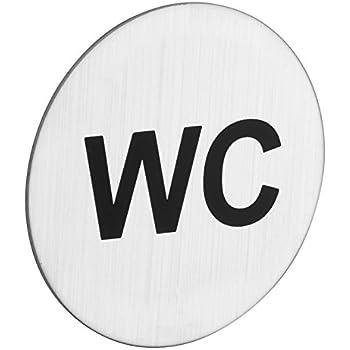 Piktogramm selbstklebend kreisrund ROSTEX Edelstahl WC Schild Herren Toilette Rund