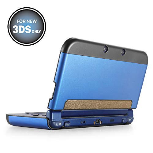 TNP New 3DS Case (Navy Blue) - Plastic + Aluminium Full Body Protective Snap-on Hard Shell Skin Case Cover for New Nintendo 3DS 2015