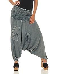 d858ae5c68ac LEENA Femmes Bloomers Haremshose Harem Pantalon Aladdin Pantalon Yoga  Pantalon