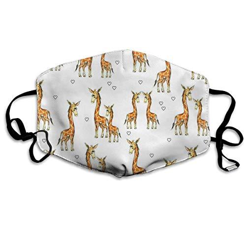 Preisvergleich Produktbild Nicegift Masken mit Giraffen,  Herzen,  atmungsaktiv,  Staubfilter,  Masken,  elastisch,  Ohrschlaufe