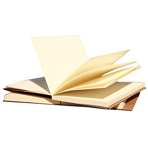 Gossipboy vintage Kraft cover notebook disegno Scrawl Notepad, diario di viaggio diario memo libro con copertina rigida, 112fogli/224pagine, Carta, White Paper, 16K