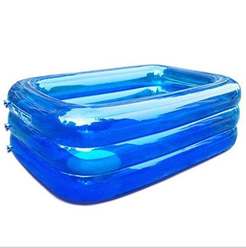 Mustbe strong Kinder Aufblasbare Pool Aufblasbare Paddeln / Schwimmbad Baby Familie Wasser Ball Pool Ultra Große Erwachsene Verdickte Blau , 200for Outdoor
