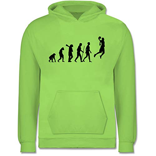 Shirtracer Evolution Kind - Basketball Evolution - 3/4 Jahre (104) - Limonengrün - JH001K - Kinder Hoodie