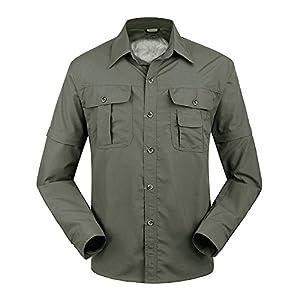 41H3wxyFcNL. SS300  - TACVASEN Quick Dry Men's UV Protection Convertible Sleeve Shirt