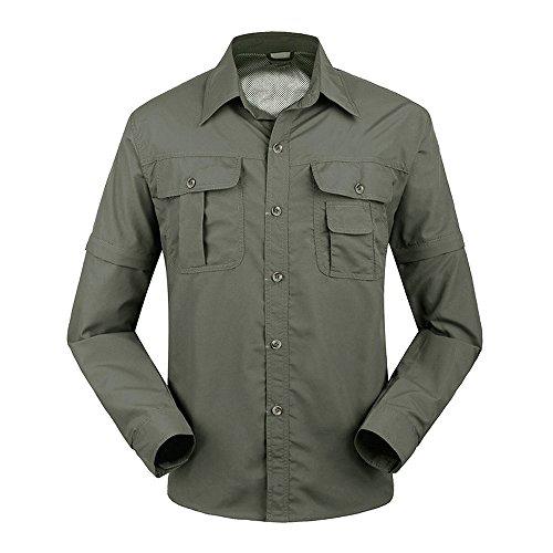 41H3wxyFcNL. SS500  - TACVASEN Quick Dry Men's UV Protection Convertible Sleeve Shirt