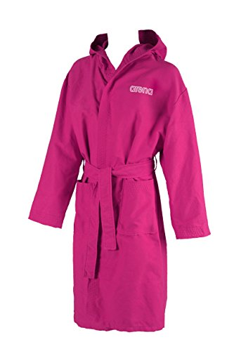 Arena Zeal Youth Accappatoio junior, Fucsia/Bianco, M