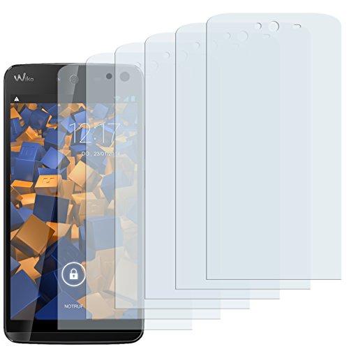 mumbi Schutzfolie kompatibel mit Wiko Rainbow Jam Folie klar, Bildschirmschutzfolie (6x)