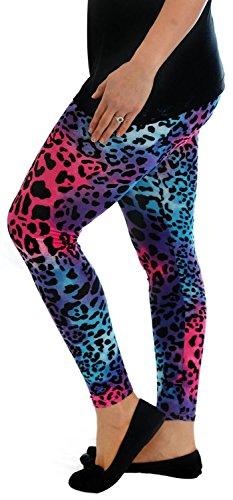Chocolate Pickle Nouveau Femmes Tout Over Print Plus Taille Maigre Extensible Plein Longueur Yoga Pantalons Leggings 40-54 Multi Leopard