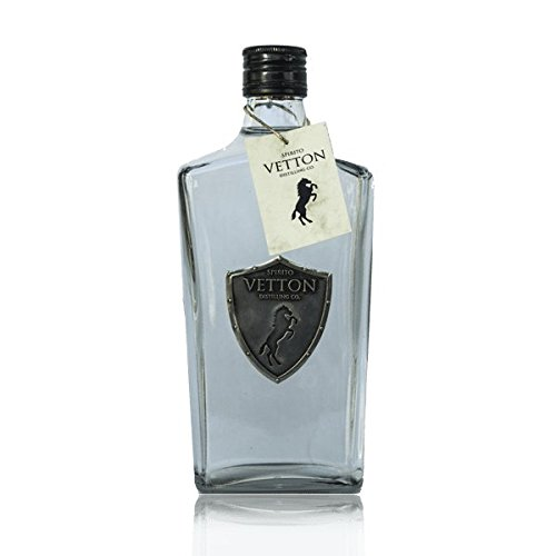 Spirito Vetton- Ginebra Premium Artesanal Extra Dry de cinco destilaciones – Botella de 70 cl