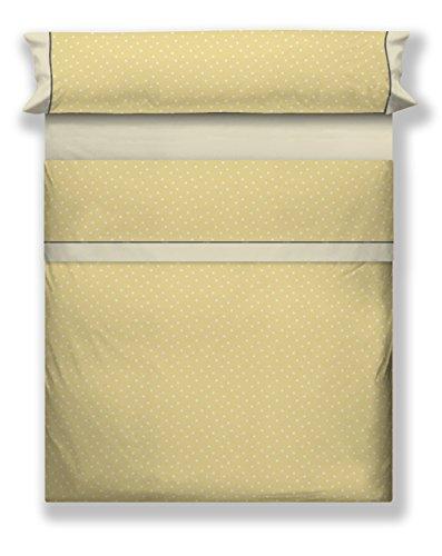 Juego de Sábanas amarillas de Algodón, 150x200x30 cm