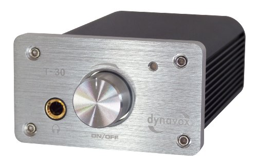 DynaVox - Amplificatore digitale stereo T-30, colore: Argento