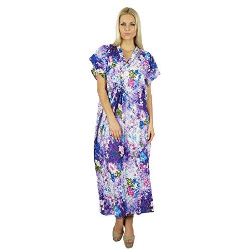 Bimba Women Soft-Modal Baumwolle Lange Printed Kaftan Maxi Strand-Vertuschung-Kaftan (Kaftan Printed Womens)