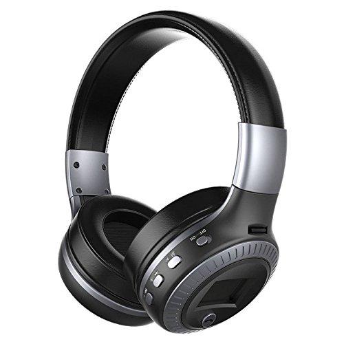 MOGUU Bluetooth Stereo - Kopfhörer Tragen, Faltbaren 4.1 Sport Mikrofon Für Smartphone - Tabletten Oder Eine Bluetooth - Kompatiblen Geräte,Schwarz, Grau Headphones Earphones Kopfhörer