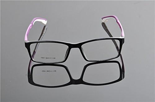 De Ding Cadre TR90objectif optique Myopie Lunettes Transparent BlackPurple