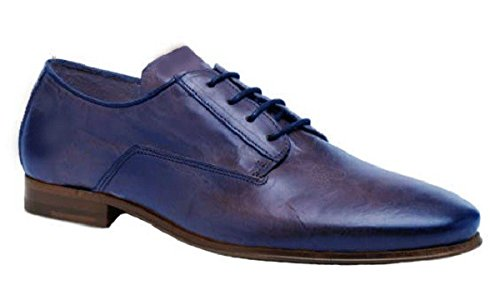 Chaussures classic model Casanova cuir par HGilliane Design Eu 33 au 46 blue