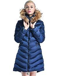 HX fashion Piumini Donna Lunga Invernali Prodotto Plus Piumino  Incappucciato Manica Lunga Caldo Chic Addensare Outdoor d888393d5c0