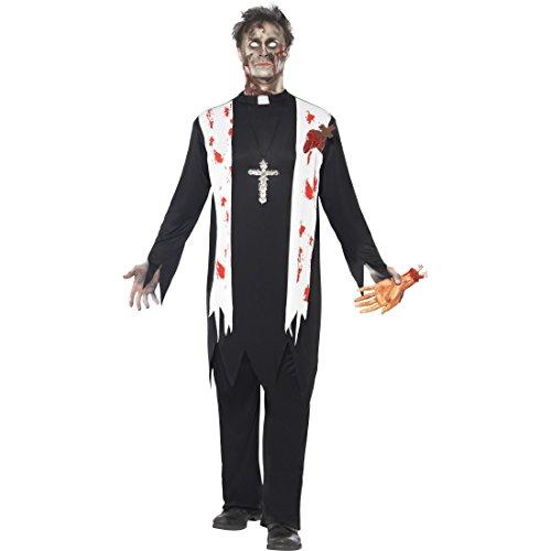 Priester Zombiekostüm Zombie Kostüm L 52/54 Kloster Priesterkostüm Horror Pastor Halloweenkostüm Monster Faschingskostüm Halloween Horrorkostüm Karneval Kostüme Herren