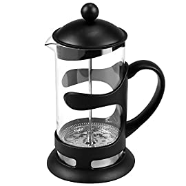 Homdox 1000ml 8 Cup Cafetiere Stainless Steel Coffee Maker And French Press Glass,34oz