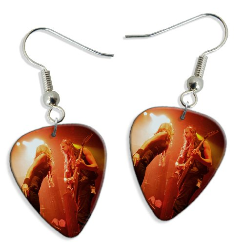 Huntress (DW) 2 X Live Performance Chitarra Plettro Earrings Orecchini