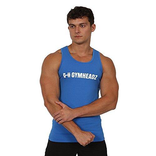 Gymheadz Herren Top, Einfarbig Stahlblau