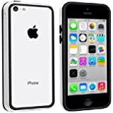 Greatest Quality Iphone 5C Bumper Case Cover with matchingl Buttons White Black by G4GADGET®