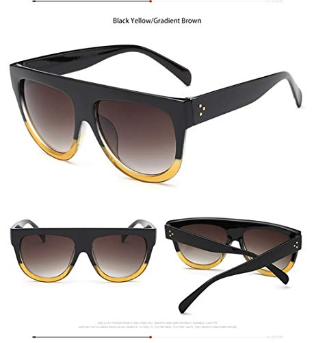 Weinlese-Sonnenbrille-Art- Und Weisefrauen- / Mann-Sonnenbrille-großes Volles Rahmen-Eyewear-Steigungsobjektiv (Lenses Color : Q7)