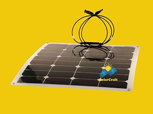 Pv-modul (Solarzelle Silizium polycilicium Semi Flexible 5x 50Watt Panel Modul PV)