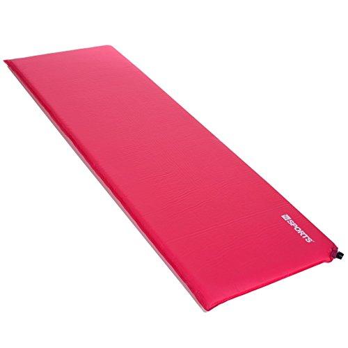 LCP Sports Selbstaufblasende Luftmatratze, Indoor Outdoor, 200x66x6 cm, Rosa