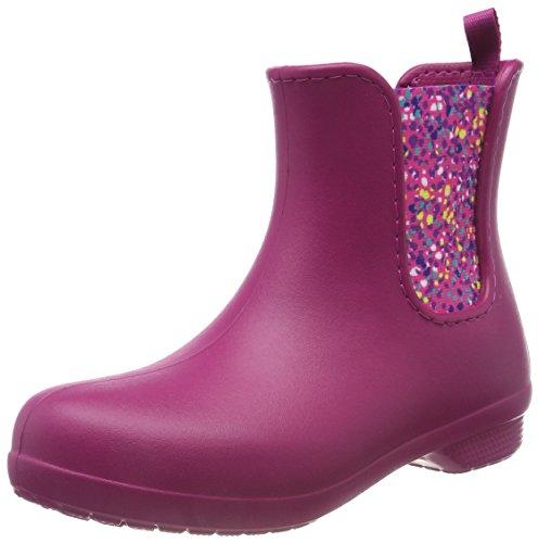 crocs Damen Freesail Chelsea Boot Gummistiefel, Pink (Berry/Dots), 41/42 EU