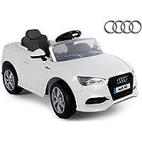 Vettura per bambini - Elettrico Auto Audi A3 - Concesso licenza - 2x 6V4. 5AH Batteria, 2 Motoren- 2,4Ghz Telecomandato, Con MP3- Bianco