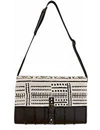Mkoba Wa Mjumbe Bag Of The Messenger Messenger White & Black By Kauli