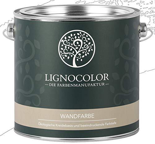 Lignocolor Wandfarbe Innenfarbe Deckenfarbe Kreidefarbe edelmatt 2,5 L (Weiss) 60 Farbtöne!