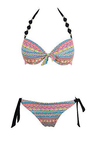 Lingerie Land Damen Bikini-Set Bedruckt