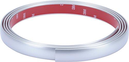Preisvergleich Produktbild hr-imotion selbstklebende matte Chrom-Zierleiste - 245cm x 21mm [3M Material | Zuschneidbar | Witterungsbeständig | Hochflexibel] - 12010601